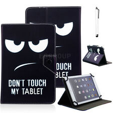 "Don't Touch My Pad For Amazon 2015 Kindle Fire 7"" Universal Leather Case Cover"