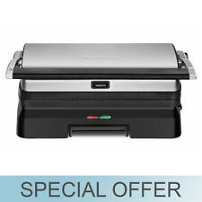 Cuisinart Griddler 3-In-1 Grill and Panini Press  GR-11 - Black and Silver