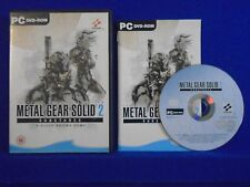 pc METAL GEAR SOLID 2 Substance Tactical Espionage Action MGS MINT DISC DVD-ROM