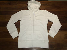 NEW Ladies B&C Wonder Hooded Sweat Jacket. White S/10 H15
