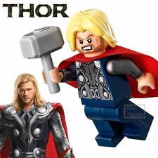 1pc Thor Minifigure Building Blocks Toy Marvel Avengers Custom Lego #004