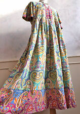 PENNY PLAIN 100% Cotton Multicoloured Paisley Retro Floral Summer Dress Large 16