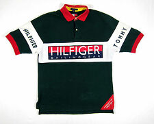 90S VTG TOMMY HILFIGER SAILING GEAR POLO SHIRT NAUTICAL STADIUM LOTUS SPORT 93 M