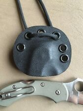 Sale- Kydex Neck Sheath for Spyderco G10 Dragonfly No Knife Only A Sheath