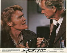 LLOYD BRIDGES HAND SIGNED 8x10 COLOR PHOTO+COA     AWESOME POSE FROM AIRPLANE