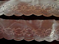 mercerie ANCIENNE bande broderie anglaise 0.80x5.5cm♥