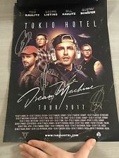 TOKIO HOTEL - DREAM MACHINE TOUR POSTER SIGNED