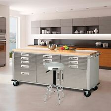 Garage Storage Cabinets Heavy Duty Rolling Metal Systems Unit Tool Workbench