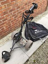 Electric Golf Trolley, Battery, Charger, Bag, Drinks And Umbrella Holder