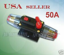 50A Car Audio Inline Circuit Breaker Fuse for 12V System Protection