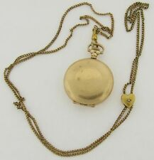 Beautiful Antique Gold Filled Ladies Hunting Case Hampden Pendant Watch