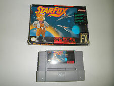 STAR FOX STARFOX GAME and BOX  SUPER NINTENDO SNES GAME NES HQ BOX #C