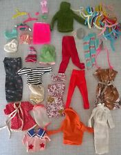 Lot of vintage Barbie Casey Tammy little kiddle doll clothes etc.
