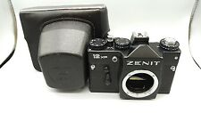 1989 SOVIET ERA ZENIT-12XP 35mm SLR Camera M42 Screw Body & Leather Case!Kamera!