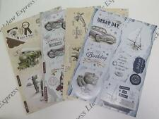 Debbi Moore Nostalgia Die-Cut Toppers Sentiments for Men 4 x A4 Cardmaking AM568