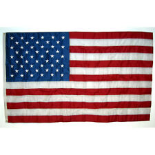 NEW Quality 6' x 4' Nylon Embroidered-Stars Indoor Outdoor American US USA Flag