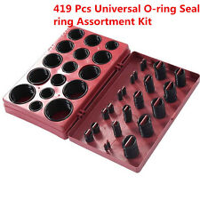 419pc Rubber Seal O-Ring Assortment Plumbing ORing Universal Metric With Case
