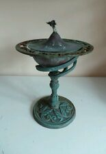 Large Old Copper Oil Lamp Burner Light W Cast Iron Base & Wick Garden Home Decor