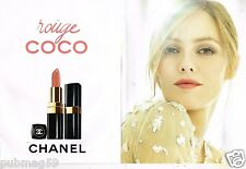 Publicité Advertising 2011 (2 pages) Cosmétique Chanel Rouge Vanessa Paradis