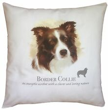 Border Collie Dog | 100% Cotton Cushion Cover with Zip | Howard Robinson | Gift