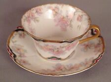 Haviland Five O'clock Cup & Saucer Pink/Yellow Florals S69F