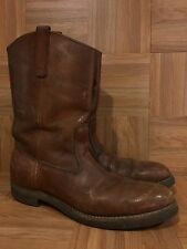 Vintage�� Red Wing Pecos USA Brown Leather Aged Pull On Boots Sz 12 A Narrow LE