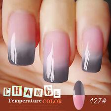 8ml Pink Grey Color Changing  UV Gel Nail Polish Soak Off  Nail Art Lacquer 127