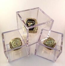 Championship Ring Or Memorabilia Display Case Box Crystal Clear Stand Holder New