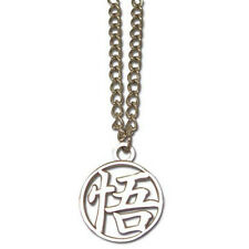 OFFICIAL DRAGON BALL Z GOKU METAL SYMBOL PENDANT ON CHAIN NECKLACE *NEW