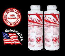 2 Bottles REAL J-Lube JLube Powder Lubricant FREE USA SHIPPING - Made in USA