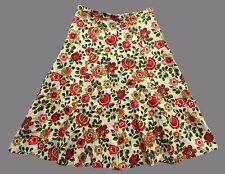 Vintage años 80 Cosido Estampado Floral Retro Boho 14