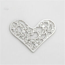 Floating charm New 28mm Butterfly silver Heart for glass Living Memory Locket