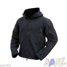 Tactical Recon Zip Up Fleece Jacket Army Hoodie Security Police Hoody Combat