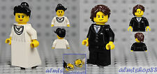 LEGO - Bride & Groom Minifigure Wedding Dress Necklace Ring Tuxedo Cake Topper G