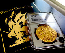 """SPAIN 1708 8 ESCUDOS DOUBLOON NGC 53 """"ONLY 1 KNOWN!"""" KING Philip V GOLD COIN COB"""