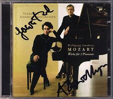 Duo vallée & Groethuysen signée Mozart sonata for 2 pianos CD Orgue pièce Andante