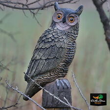 NEW HARD CORE BRANDS HOOTER OWL DECOY CROW HUNTING PEST CONTROL BIRD DETERRENT