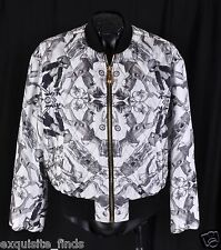 BRAND NEW VERSACE 100% SILK QUILTED BOMBER JACKET 50 - 40