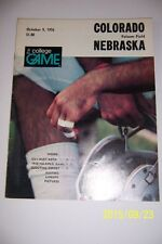 1976 NEBRASKA CORNHUSKERS vs COLORADO Buffaloes 60 Page Program FOLSOM FIELD