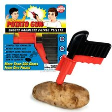 Classic Retro Vintage PLASTIC SPUD GUN Potato Toy Gun Fancy Dress Costume Prop