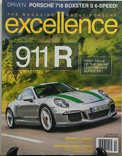 Excellence Oct 2016 Porsche 911 R 500 Horsepower Lightweight FREE SHIPPING sb