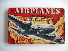 """Vintage Booklet Titled """"Airplanes of the U.S.A."""" w/ 60 Colored Pictures  *"""