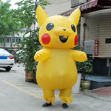Adult Large Mascot Pikachu Inflatable Costume Cosplay Halloween Funny Dress
