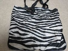 NEW Bath & Body Works BLACK/Zebra print Purse Bag Tote