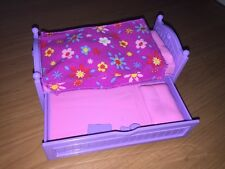 Fisher Price Loving Family Dollhouse Kids Trundle Bed Pink Purple Bedroom