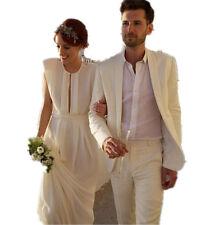 Groom Tuxedo Suit Men Beach Wedding Suit Champagne Color (Jacket + Pant )