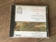 A Venetian Coronation 1595 CD Apr-1990 Virgin Classics Veritas Technics Audio
