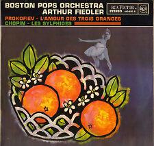 """BOSTON POPS / ARTHUR FIEDLER """"L'AMOUR DES TROIS ORANGES"""" 60'S LP STEREO"""