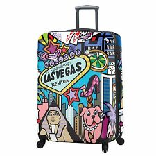 "NEW MIA TORO JOZZA LAS VEGAS 28"" EXPANDABLE 4 WHEEL SPINNER LUGGAGE MULTI"
