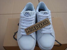 Medium, Synthetic leather,Laces JUNIOR Kappa Morinetas white/navy trainers UK 4